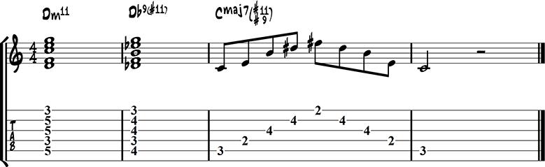 Jazz guitar ending 6