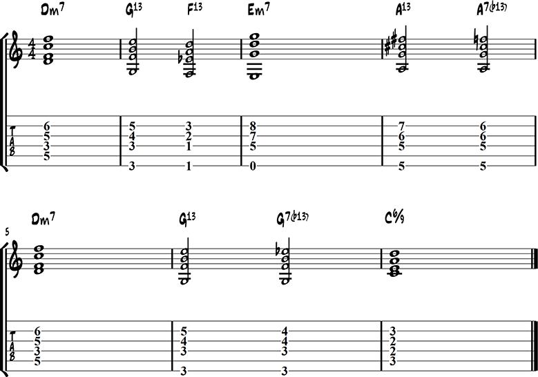 Jazz guitar ending 7
