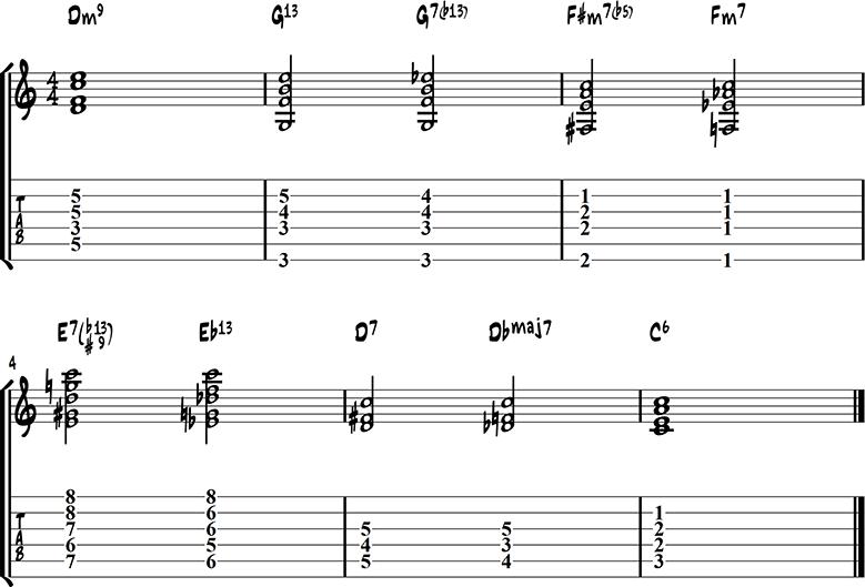 Jazz guitar ending 8