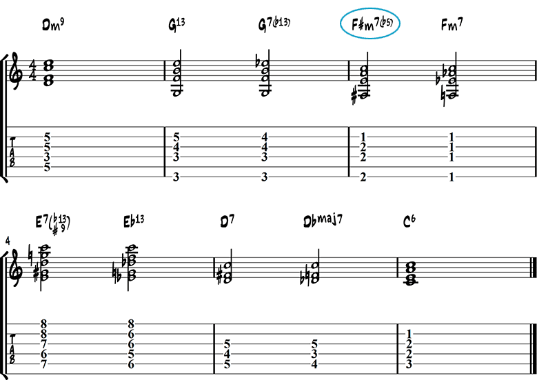 The flat-five chord progression
