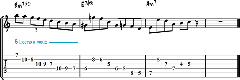 Half-diminished chords example 1