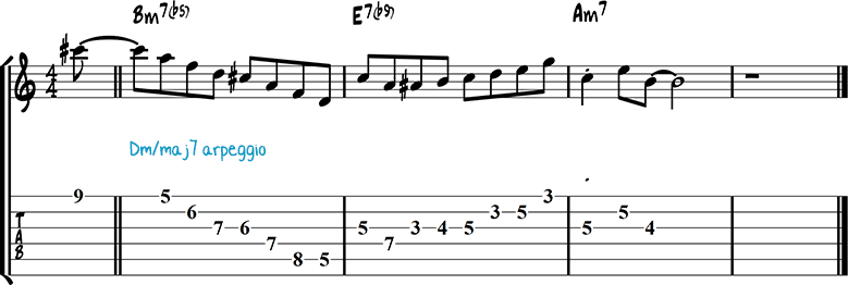 Half-diminished chords example 11