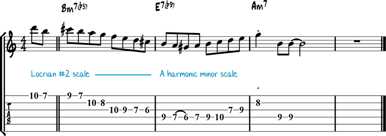 Half-diminished chords example 2