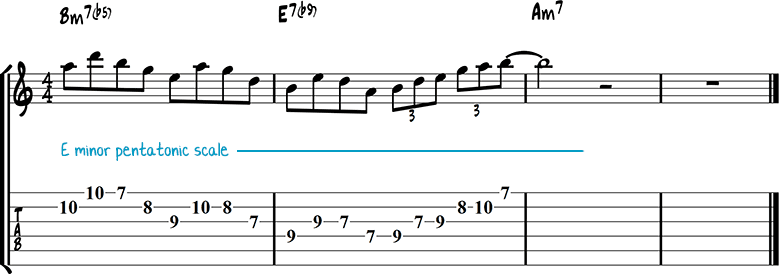 Half-diminished chords example 4