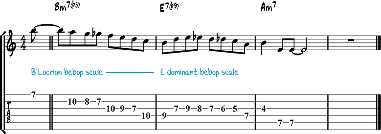Half-diminished chords example 6