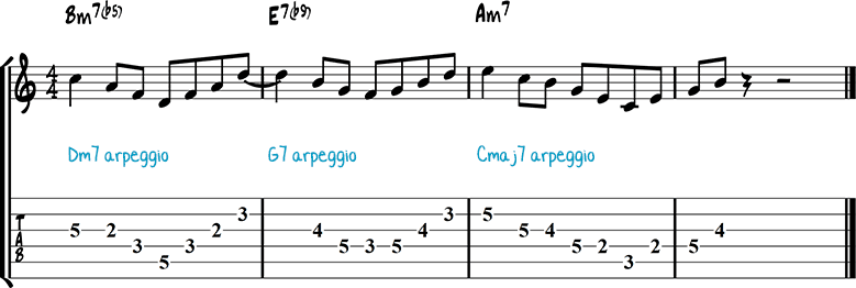 Half-diminished chords example 8