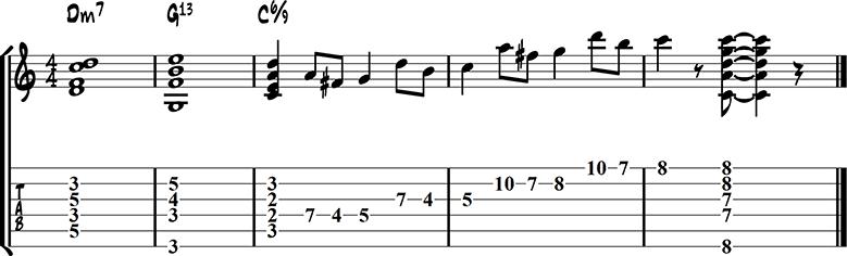 Jazz guitar ending 14