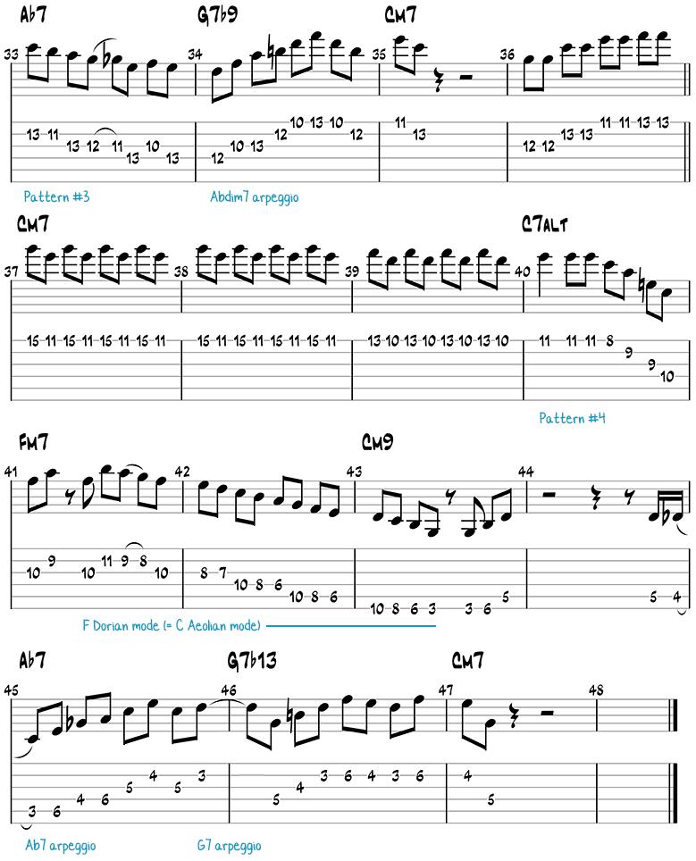 Mr. PC guitar solo page 2