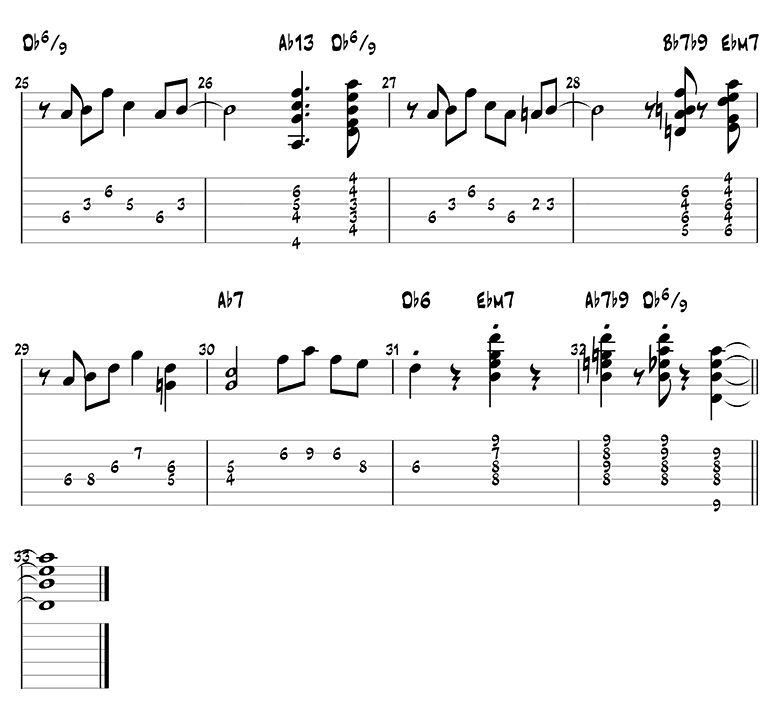 Stompin at the Savoy guitar tabs page 3