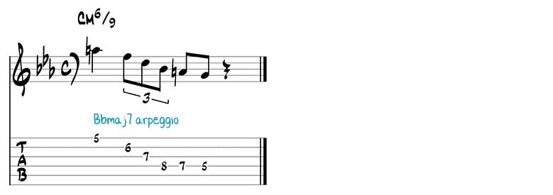 Jazz guitar pattern 3