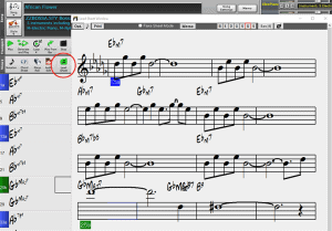 Band in a Box lead sheet window