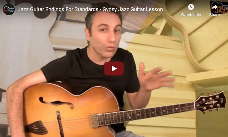 Gypsy jazz guitar endings