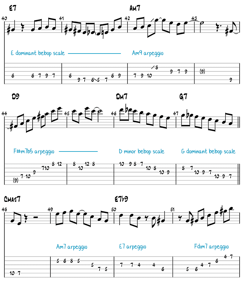 All of Me jazz guitar solo page 2