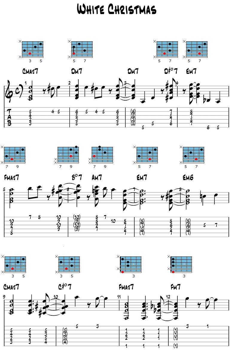 White Christmas Jazz Guitar Version page 1