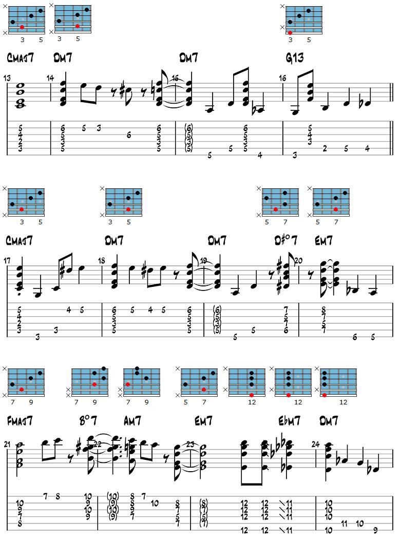 White Christmas Jazz Guitar Version page 2