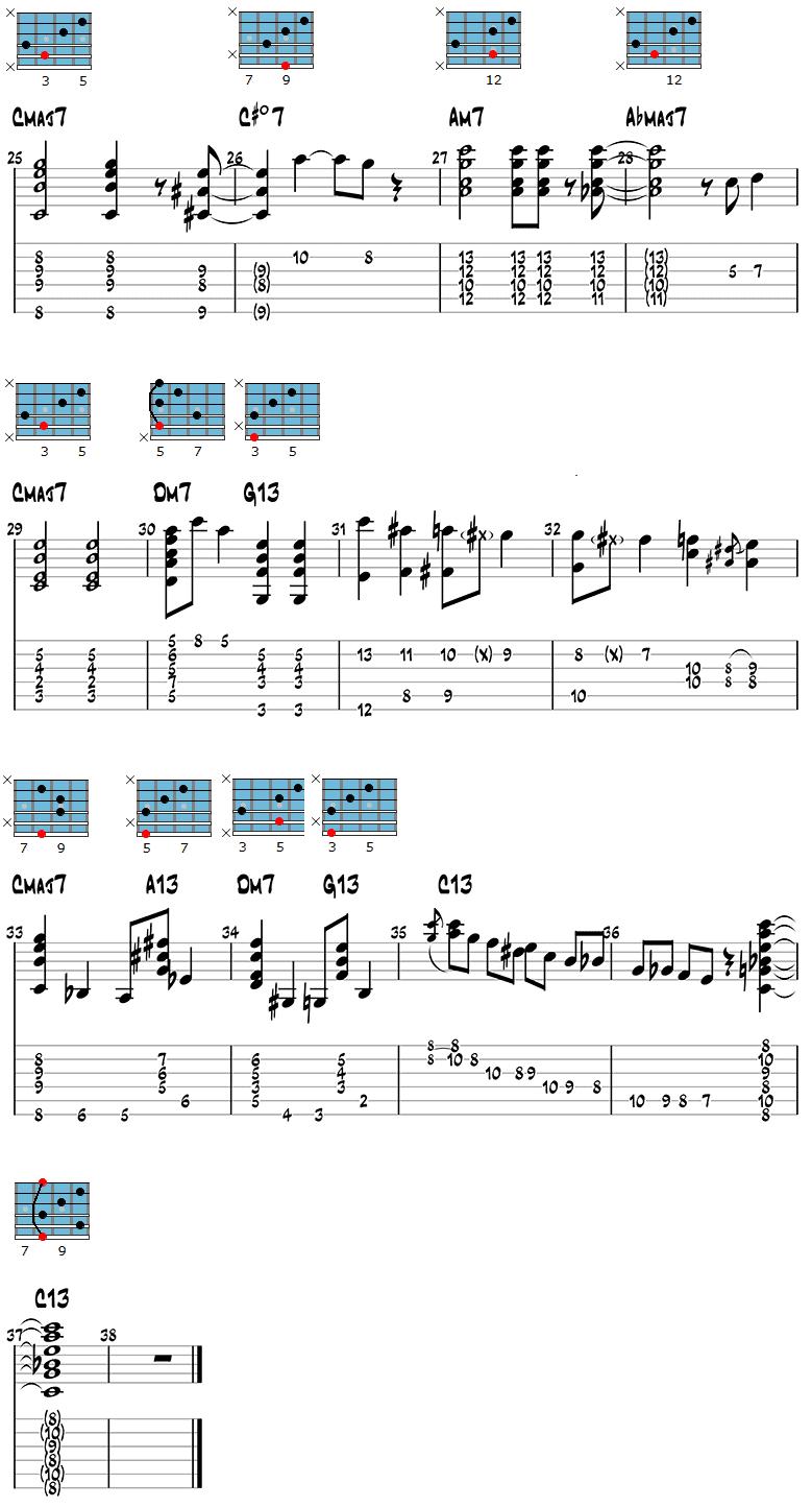 White Christmas Jazz Guitar Version page 3
