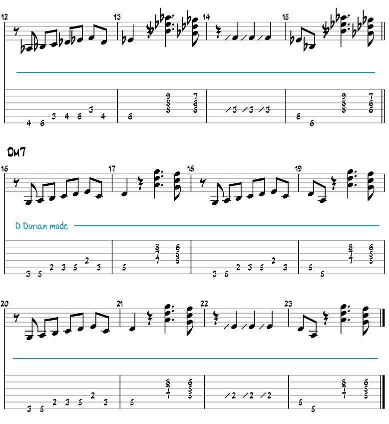 So What (Ronny Jordan) guitar tabs page 2