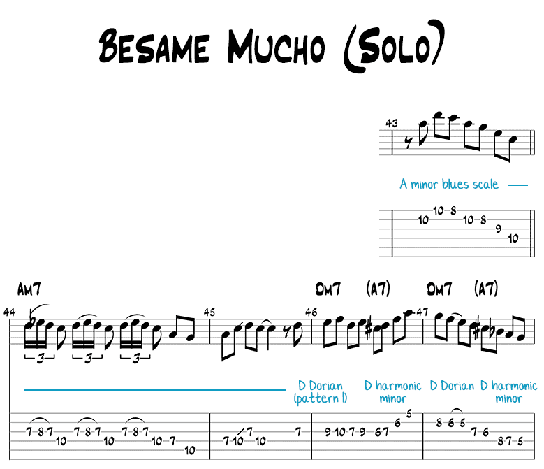 Besame mucho guitar solo page 1