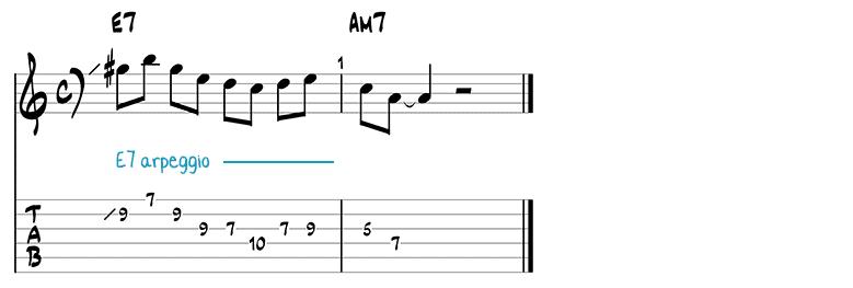 Besame Mucho jazz guitar pattern 10
