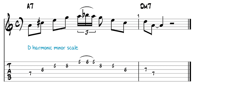 Besame Mucho jazz guitar pattern 3