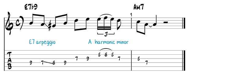 Besame Mucho jazz guitar pattern 4
