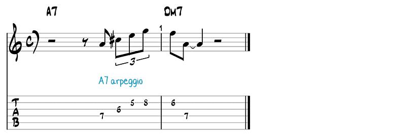 Besame Mucho jazz guitar pattern 5