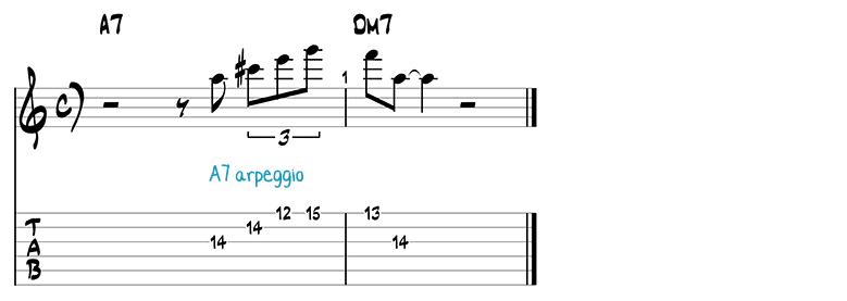 Besame Mucho jazz guitar pattern 5b