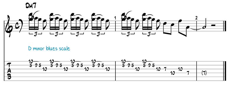 Besame Mucho jazz guitar pattern 6