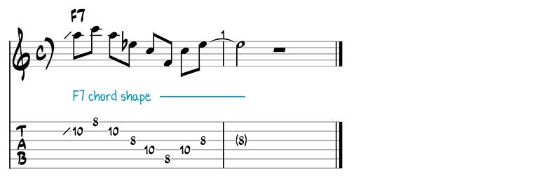 Besame Mucho jazz guitar pattern 9