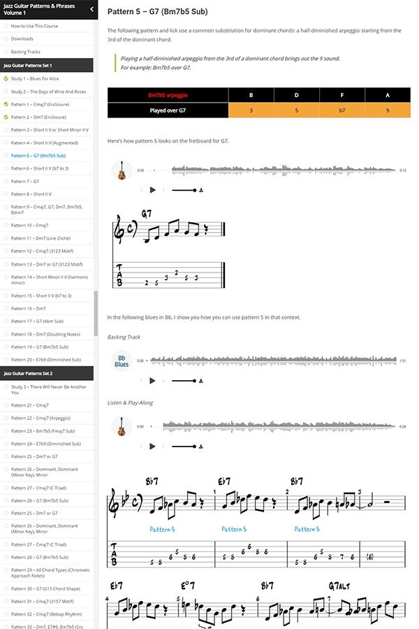 Jazz Guitar Patterns