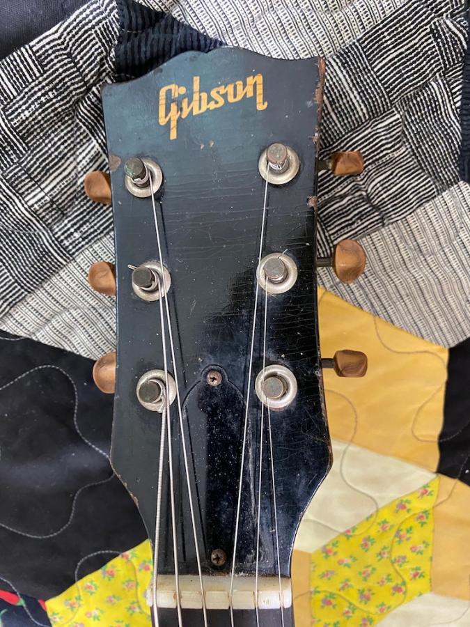 Vintage Kluson Tuners '46 Gibson 125-headstock-jpg