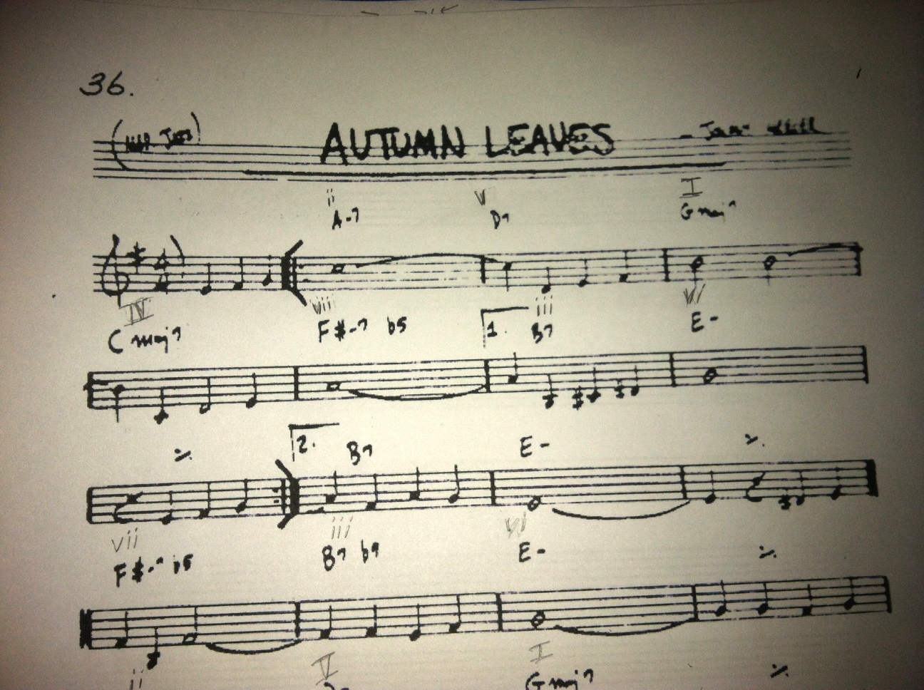Questions About Autumn Leaves Chord Progressions How To Read Diagrams Or Stamps Chords