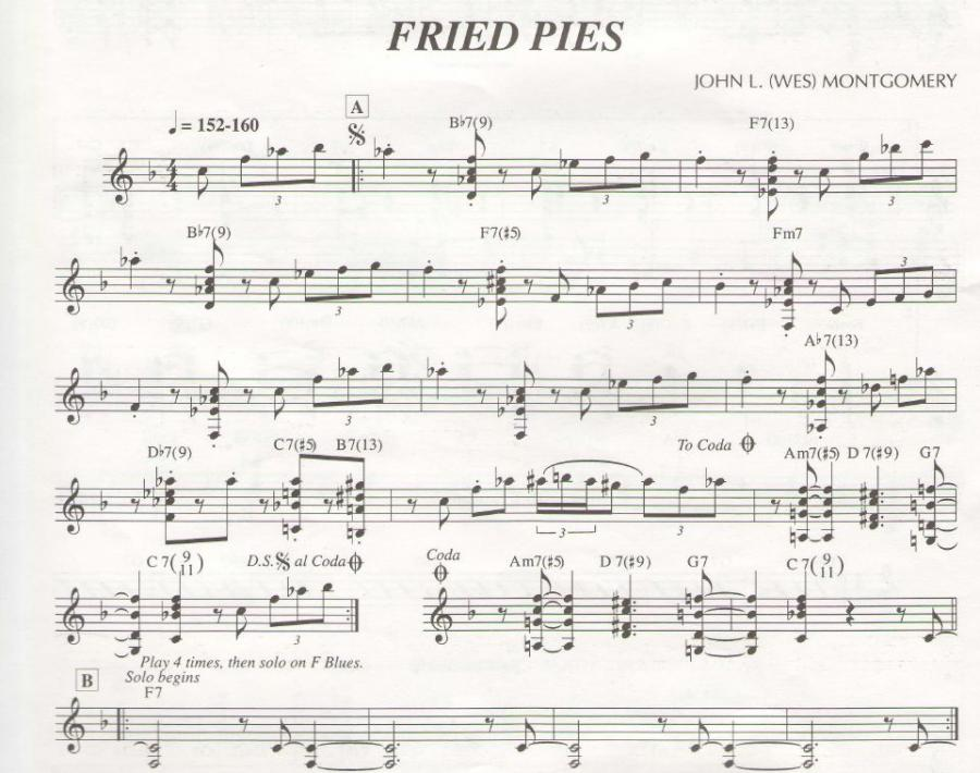 Fried Pies  (Wes Montgomery) - Chord Voicings-friedpies-jpg