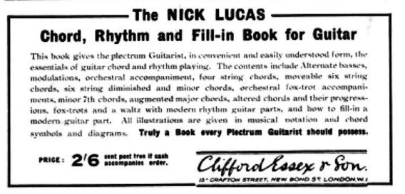 Nick Lucas Chord, Rhythm and Fill-in Book for Guitar-bmg-october-1934-jpg