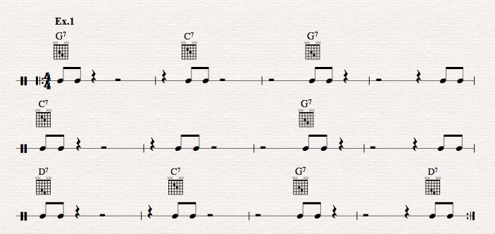 How to master jazz guitar comping rhythms?-ex-1-jpeg