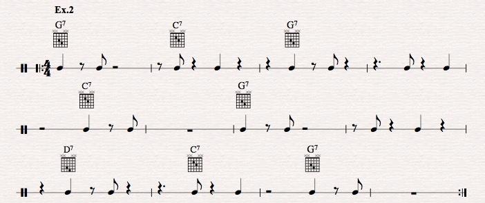 How to master jazz guitar comping rhythms?-ex-2-jpeg