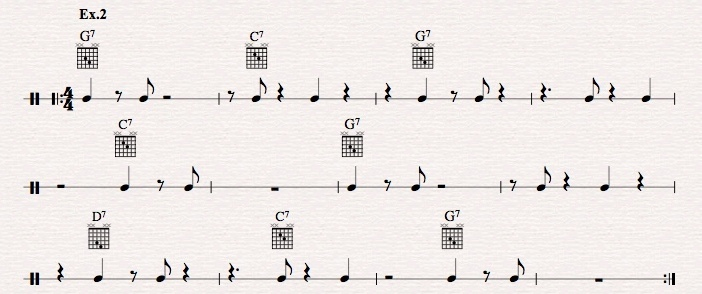 How to master jazz guitar comping rhythms?-ex-2-jpeg