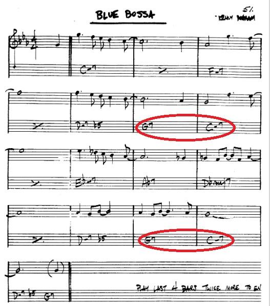 Blue bossa chord progression question-untitled-jpg