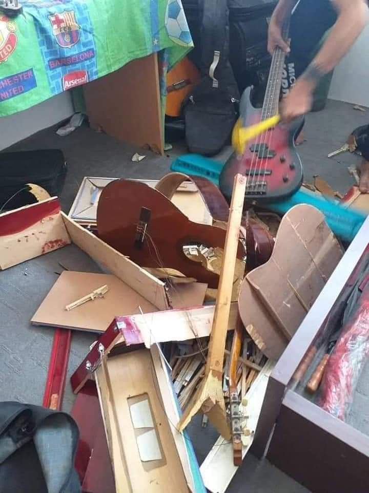 Afghanistan National Institute of Music destroyed their musical instruments.-music-lllll-jpg
