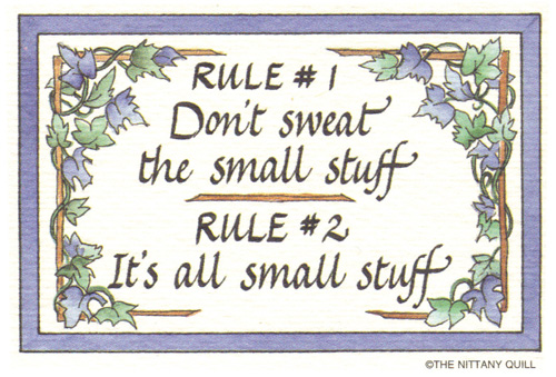 Basic rules in Jazz-dont-sweat-small-stuff-jpg
