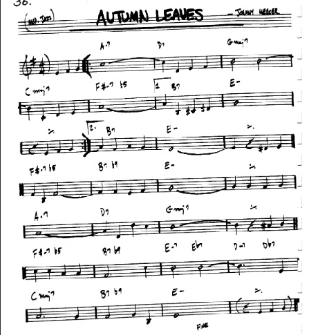 American songbook melody based on Dorian mode-aleaves-jpg