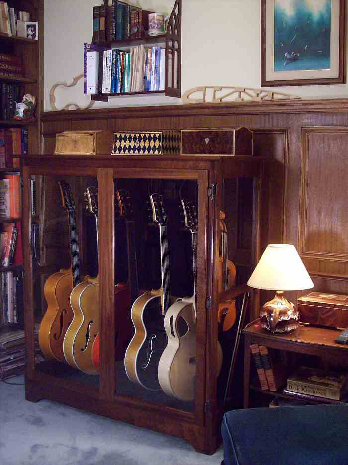 Guitar Display Case And Humidity Control Cab Full Closed 48 Jpg