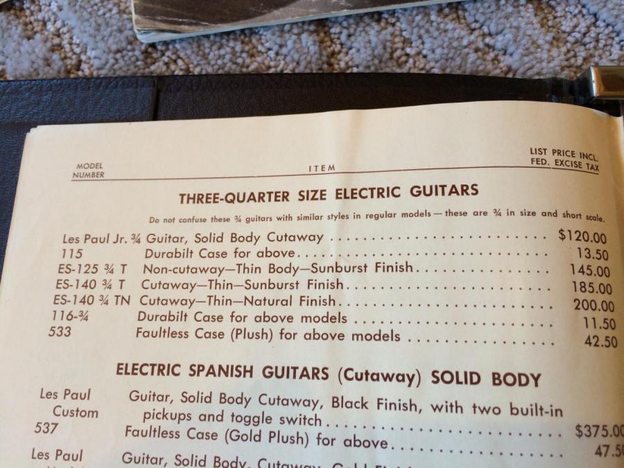 1956/7 Gibson ES-140T - Natural-es-140-price-list-catalog-jpg