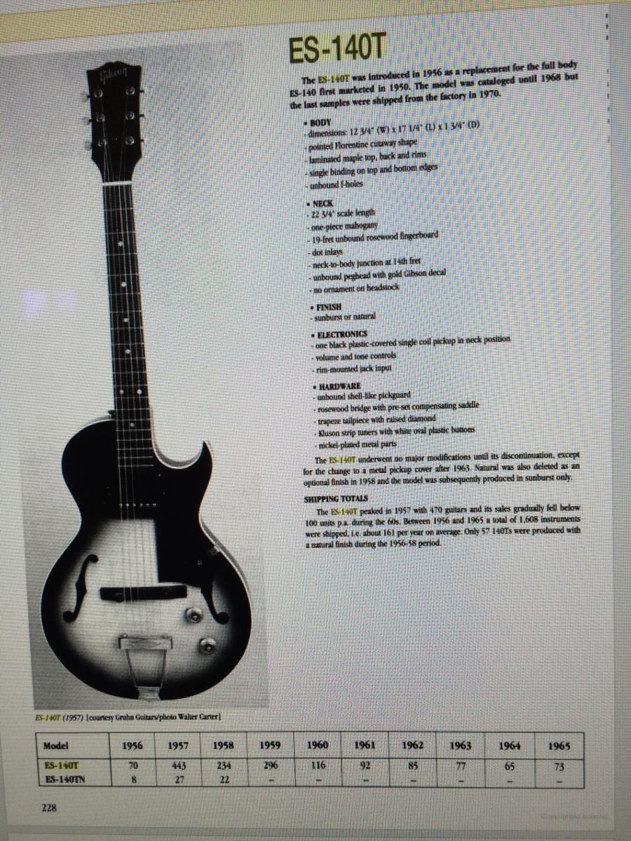 1956/7 Gibson ES-140T - Natural-es140-spec-sheet-jpg