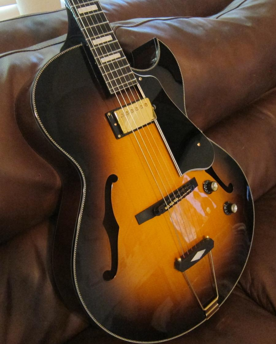 looking for a good laminate spruce top electric archtop. Black Bedroom Furniture Sets. Home Design Ideas
