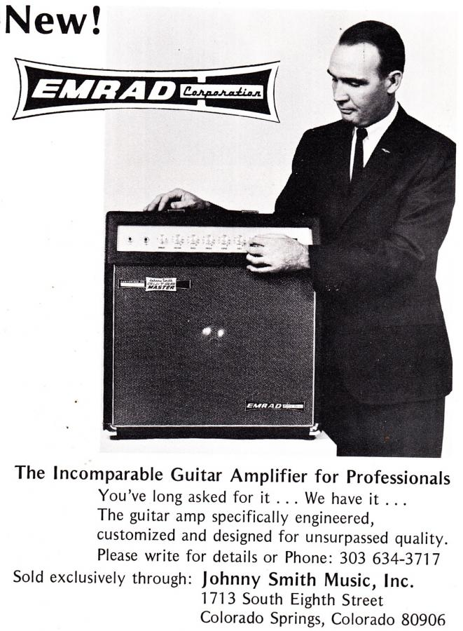 All three decades of the Gibson Johnny Smith-emrad_amplifier_1971-jpg