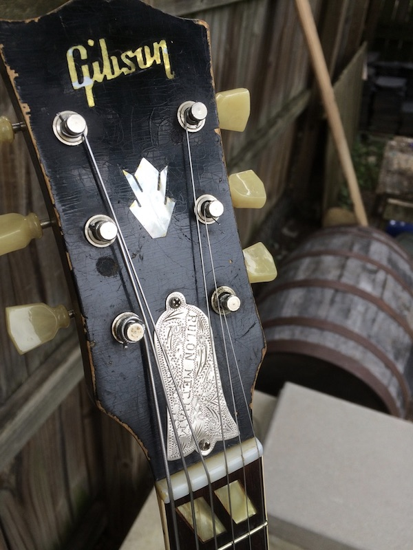 1956 Gibson ES-175-headstock-chips-truss-rod-cover-jpeg