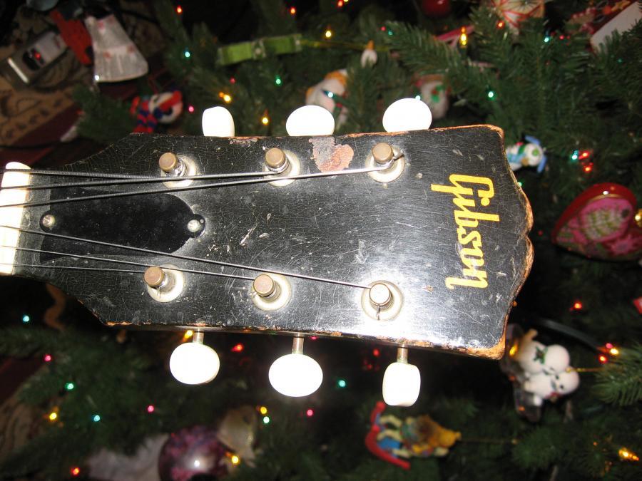 1956/7 Gibson ES-140T - Natural-ibanezfg100-coins-009-jpg
