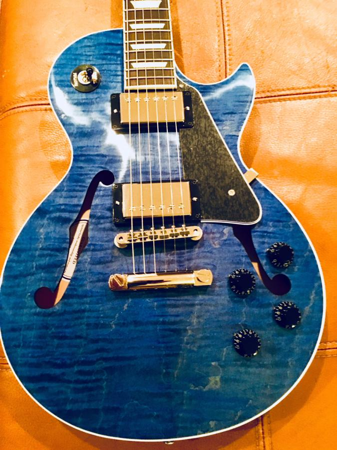 gibson es les paul chinery blue guitar from cme. Black Bedroom Furniture Sets. Home Design Ideas