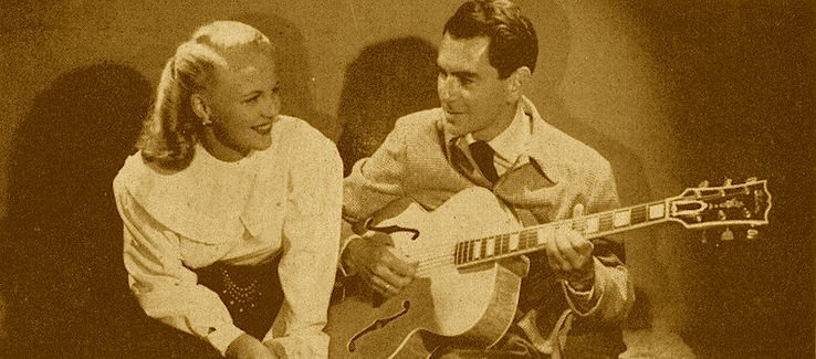 1940 Gibson L-5N formerly owned by Dave Barbour-shows_summer_electric_hour_7_1948may-jpg
